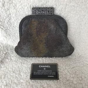 Chanel Metallic Evening Clutch